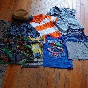 Sale❗8 pc Boy's Summer bundle size 5t - 5/6